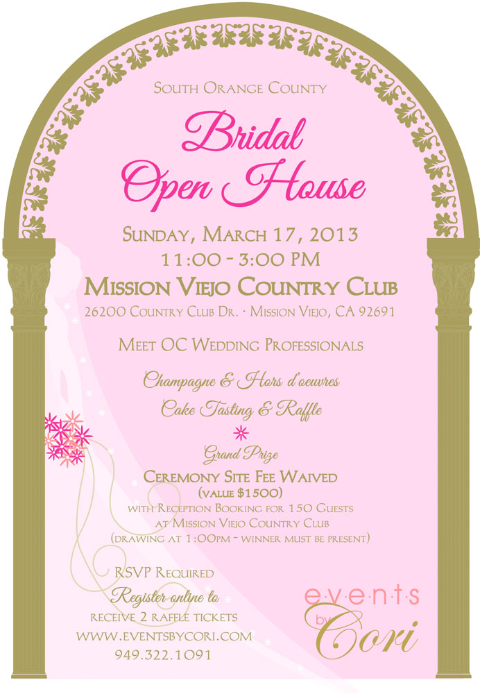 south orange county bridal open house at mission viejo