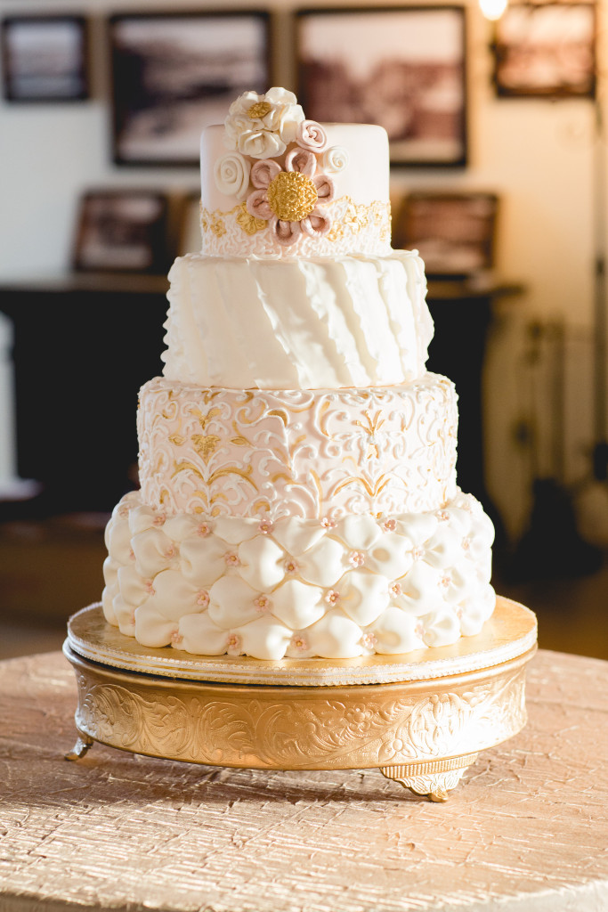 Casa Romantica Styled wedding photo shoot wedding cake Plumeria Cake Studio