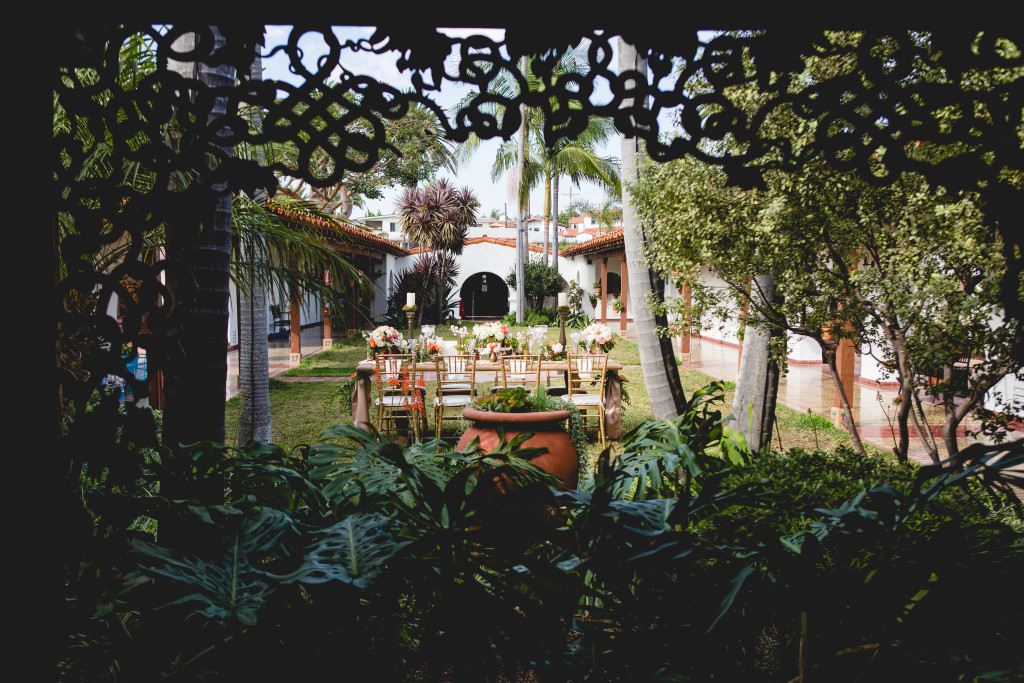 Casa Romantica San Clemente Events by Cori wedding photo shoot table setting