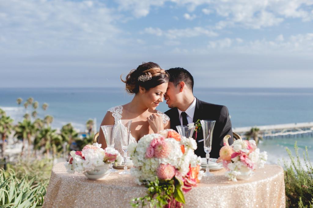 Casa Romantica Styled Photo shoot weddings San Clemente CA sweetheart table