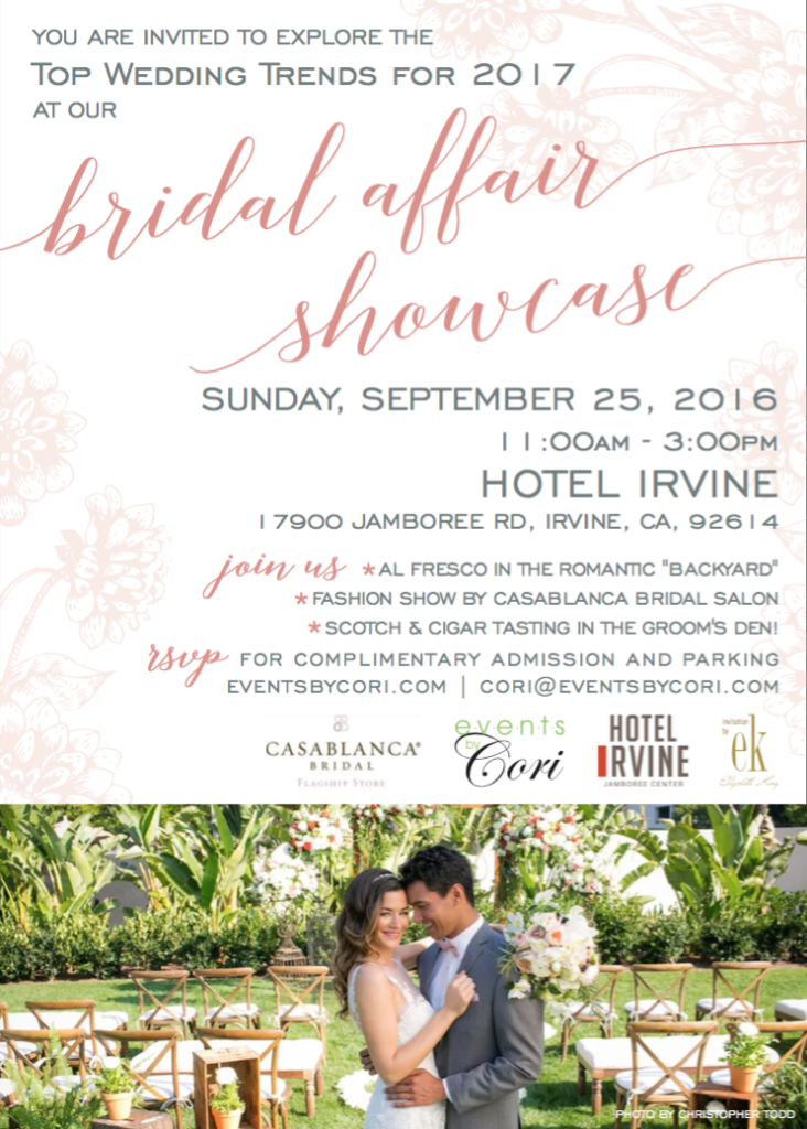 Bridal Affair Showcase Hotel Irvine CA